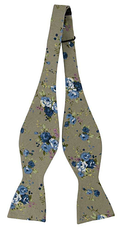 ANGENAM Beige self-tie bow tie
