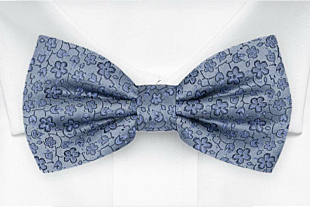 AUGURI Dusty blue bow tie