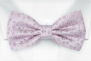 AUGURI Pale purple bow tie