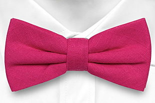 BASKETVEIL Hot pink bow tie