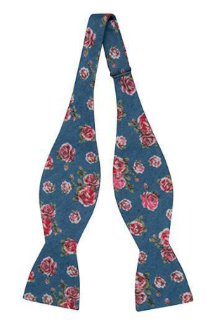 BELLBOTTOM Rose self-tie bow tie