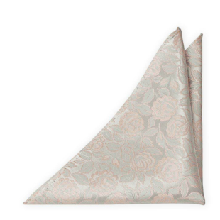 BESTMAN Silver blush pocket square