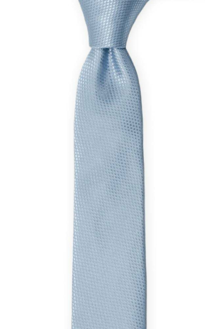 BIRDSEYE Dusty blue skinny tie