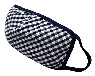 NAVY AND WHITE CHECKERS face mask