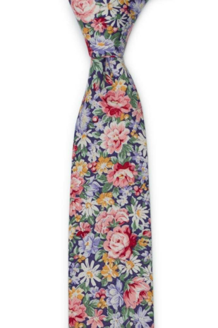 BLOOMBUCKET Purple skinny tie