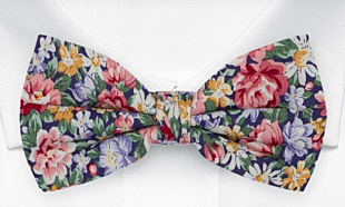 BLOOMBUCKET Purple bow tie