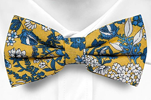 BLUEBREW Yellow bow tie
