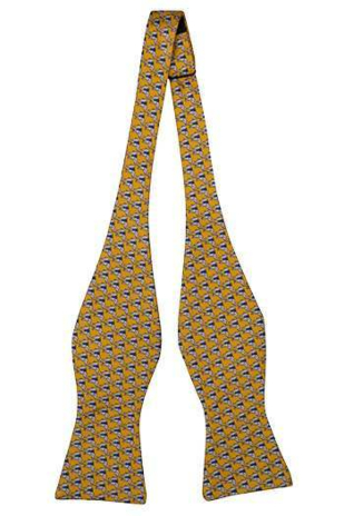 BOCCAGLIO Yellow self-tie bow tie