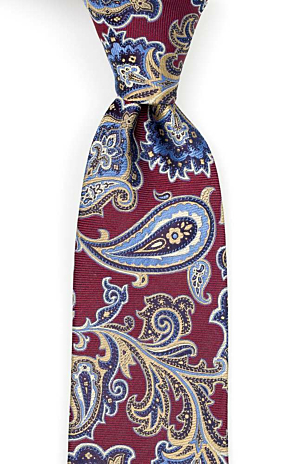 BOFFOLA Dark red tie