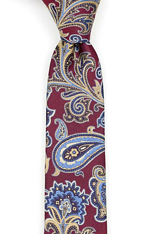 BOFFOLA Dark red skinny tie