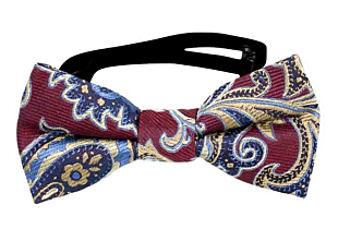 BOFFOLA Dark red baby bow tie