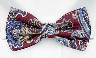 BOFFOLA Dark red bow tie