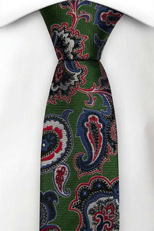 BOFFOLA Green boy's tie medium