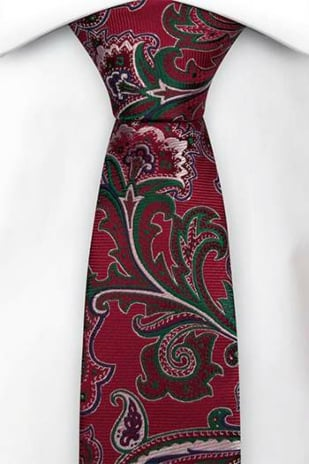 BOFFOLA Red boy's tie small
