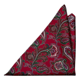 BOFFOLA Red pocket square