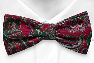 BOFFOLA Red boy's bow tie