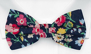 BROMANCER Dark navy bow tie
