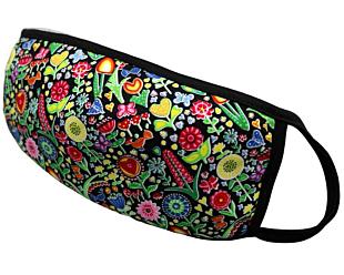 COLOURFUL FLOWERS face mask