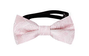 CORSAGE Blush pink baby bow tie