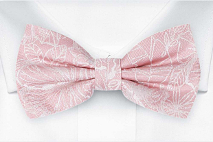 CORSAGE Blush pink bow tie