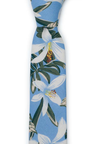 CRIBABY Light blue skinny tie