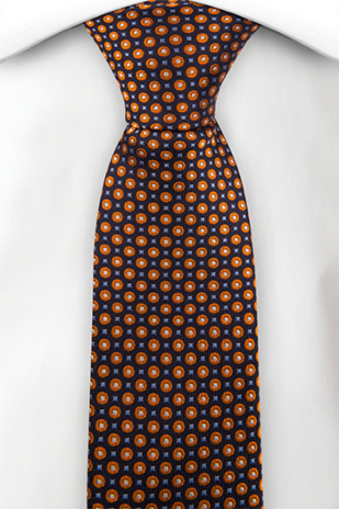 DANSGOLV ORANGE skinny tie