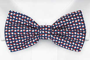 ECLISSI Red pre-tied bow tie