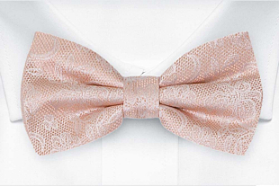 EVERAFTER Blush pink bow tie