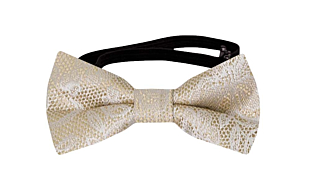 EVERAFTER Champagne gold baby bow tie