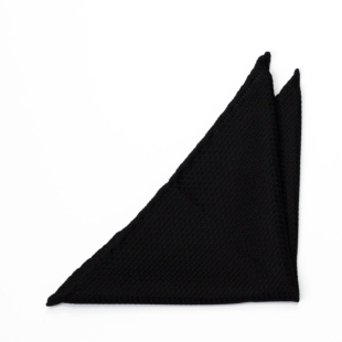 GRENADINE Black pocket square