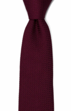 GRENADINE Burgundy red tie