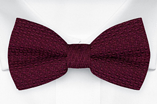 GRENADINE Burgundy red bow tie
