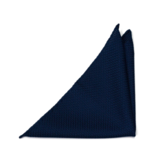 GRENADINE Dark blue pocket square