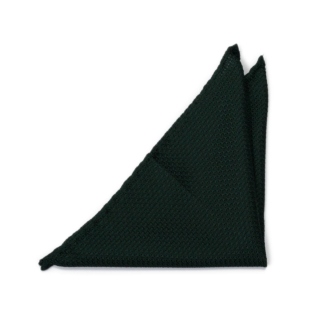 GRENADINE Forest green pocket square