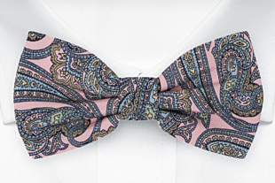 GUARNITO Dusty pink bow tie