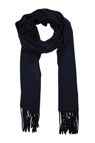 INVERNALE Navy blue scarf