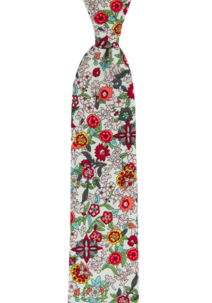 BLOOMDANCE White skinny tie