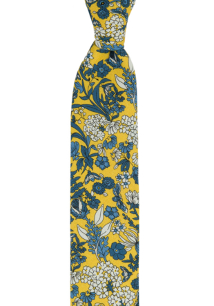 BLUEBREW Yellow skinny tie