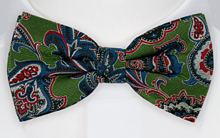 BOFFOLA Green bow tie