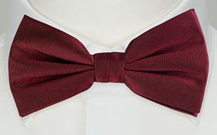 SOLID Burgundy bow tie
