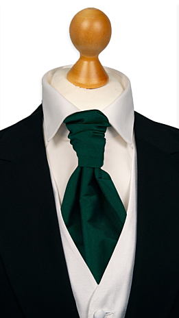 SOLID Dark green cravat