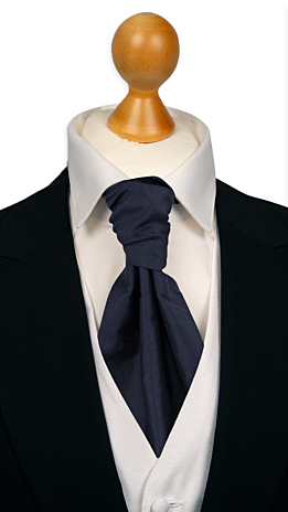 SOLID Dark navy cravat