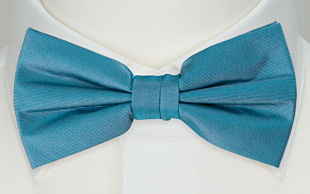 SOLID Dark turquoise bow tie