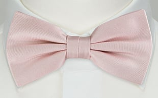 SOLID Dusty pink bow tie
