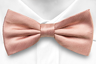JAGGED Dusty pink bow tie