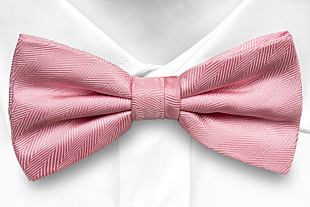 JAGGED Pink bow tie
