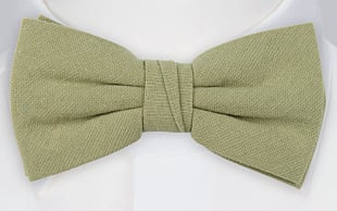 MOREAMORE Sage green bow tie