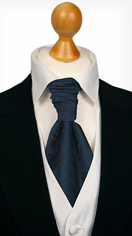 ORNATE Dark blue cravat