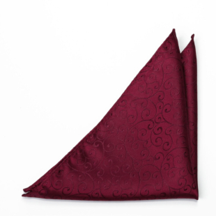 SNAZZY Dark red pocket square