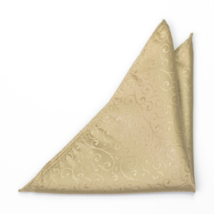 SNAZZY Gold pocket square